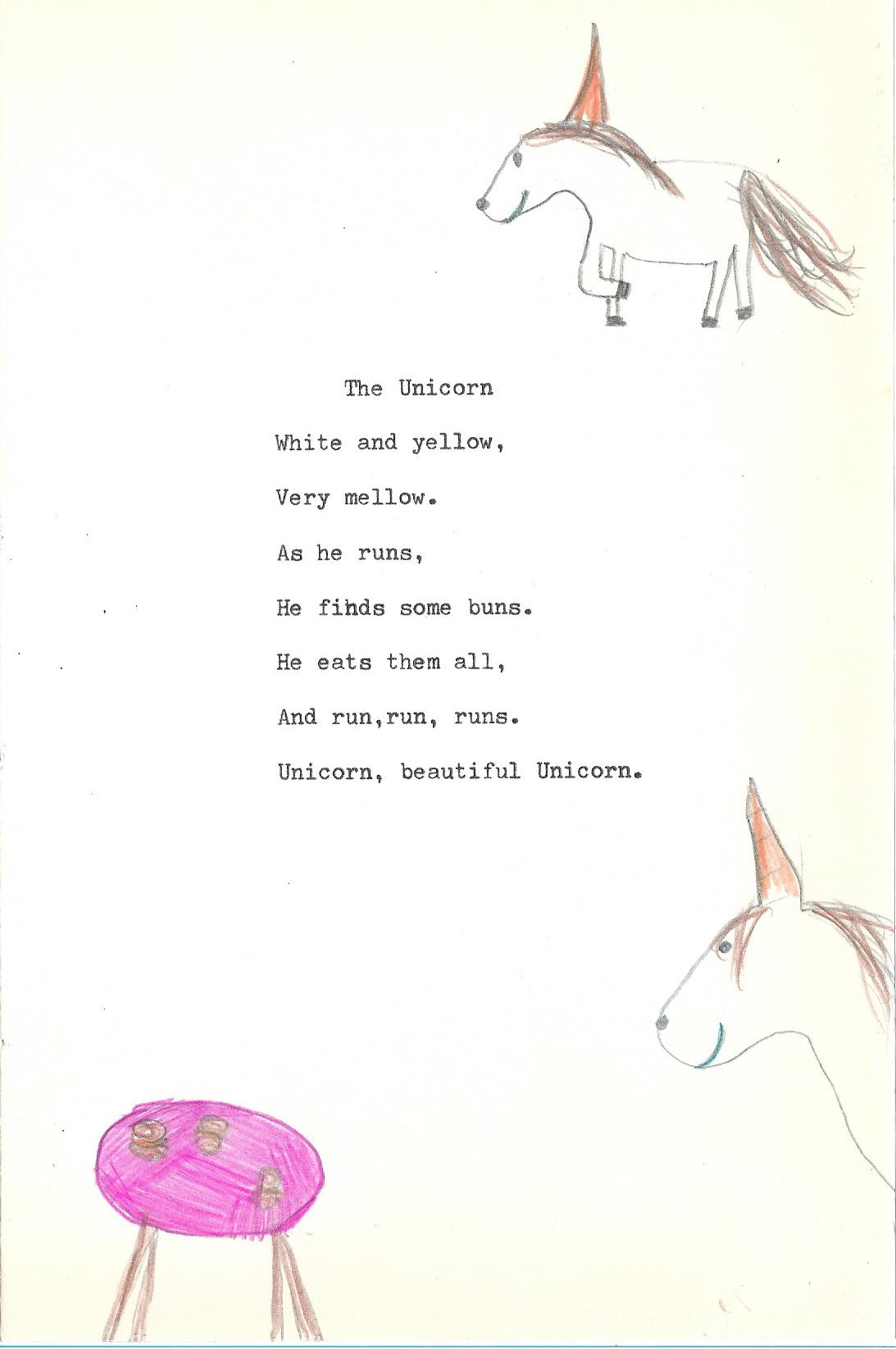 unicorn kids poem
