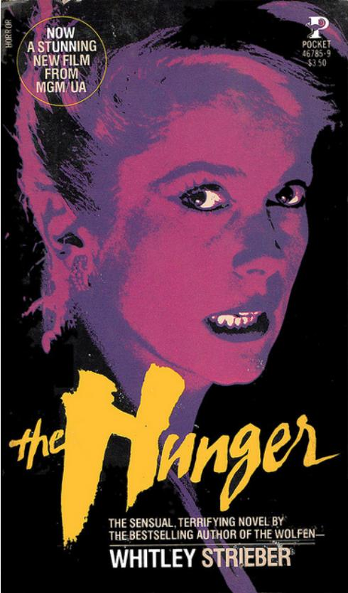 hunger movie tie in paperback 1983